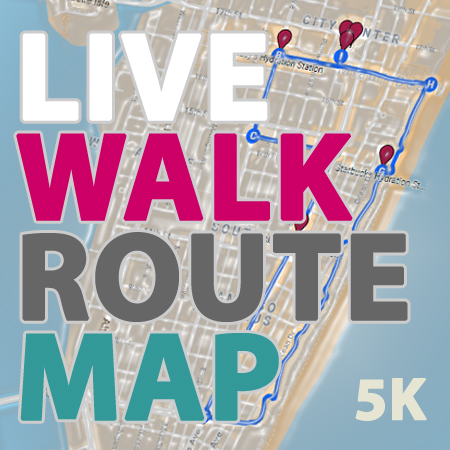 Live Route Walk Map